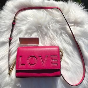 Michael Kors Ruby Ultra Pink MD Clutch Leather